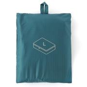 滑翔伞梭织布 可折叠旅行用收纳包・大 / 约40×53×10cm / 水蓝色