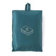 滑翔伞梭织布 可折叠旅行用收纳包・两层型・中 / 约26×40×10cm / 水蓝色