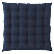 棉 坐垫 39×39cm 海军蓝