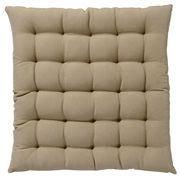 棉 坐垫 39×39cm 米色