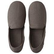 麻平织 家居鞋 / L / 25~26.5cm用 / 深棕色