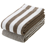 棉条纹 面巾套装