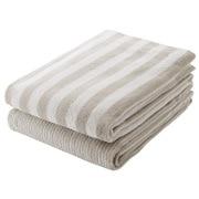 棉条纹 浴巾套装