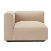棉聚酯纤维花式织单元沙发/带扶手/大/长98cm用沙发套/米色