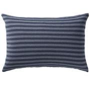 棉天竺 枕套 / 43×63cm用 / 海军蓝条纹