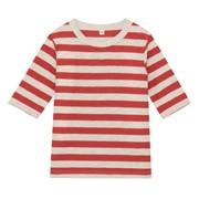 日常儿童 棉 竹节条纹七分袖T恤