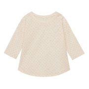 日常儿童 棉 竹节水点七分袖T恤