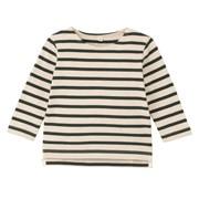 柔软粗棉线 条纹长袖T恤