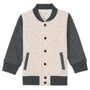 柔软毛圈棉混 夹克衫