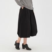 棉弹力 丝光斜纹轻便灯笼裙
