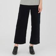 棉混弹力 灯芯绒宽版裤