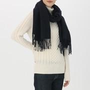 羊毛 大号编织披肩