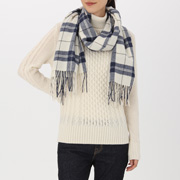 羊毛 大号编织图案披肩