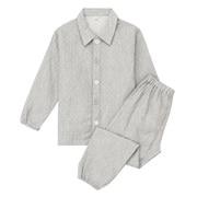 棉双层纱织方便穿脱睡衣