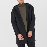 棉混双层编织 长款卫衣