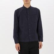 棉斜纹 立领衬衫