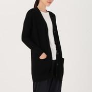 牦牛绒羊毛 宽版开衫