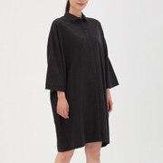 棉牦牛绒 落肩连衣裙