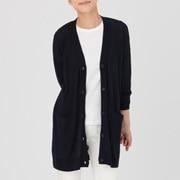 羊毛桑蚕丝 宽版开衫