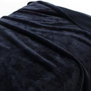 再生PET聚酯纤维 单面摇粒绒毛毯  D・180×200cm 海军蓝