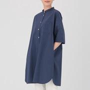 棉水洗 七分袖束腰长上衣