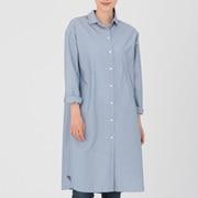 棉水洗条纹 衬衫连衣裙