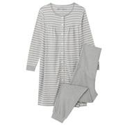 棉双罗纹 便于哺乳长袖睡衣