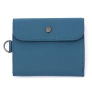 聚酯纤维 旅游用钱包 蓝色 约11×9cm