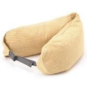 舒适 颈部靠枕 麻暗黄色×灰色