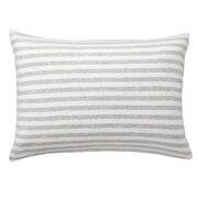 棉天竺 枕套 43×63cm用 混浅灰色条纹