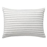 棉天竺 枕套 50×70cm用 混浅灰色条纹