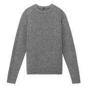 再生羊毛混 圆领毛衣