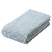 棉柔软面巾・薄型/浅蓝色
