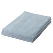 棉柔软浴巾・薄型/浅蓝色