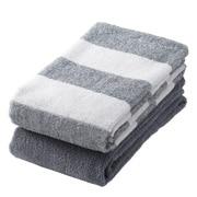 棉条纹 面巾套装 34×85cm 2条装
