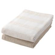 棉条纹 浴巾套装 70×140cm 2条装