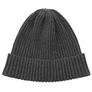 棉亚麻罗纹帽
