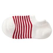 女式 棉混合脚直角条纹运动船袜