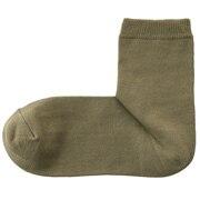棉混合脚直角袜口无橡筋短袜
