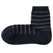 合脚直角高针距条纹短袜