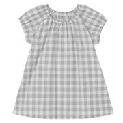 棉混多层抽皱短袖罩衫