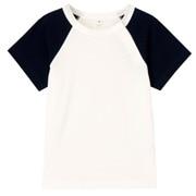 日常儿童 棉拼接色短袖T恤
