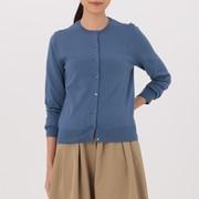 女式 棉桑蚕丝圆领开衫