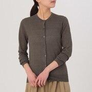 女式 法国亚麻圆领开衫
