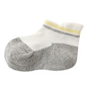 合脚直角弹力运动船袜带提耳横纹袜