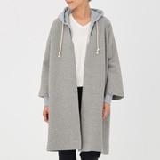 女式 棉混双层编织大衣