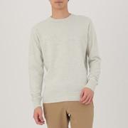 粗细不均棉线 圆领毛衣