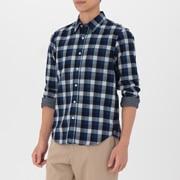 男式 棉 靛蓝染色衬衫