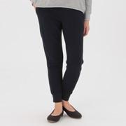 棉混弹力毛圈罗纹收口长裤