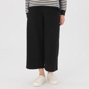 女式 棉混弹力毛圈宽版裤